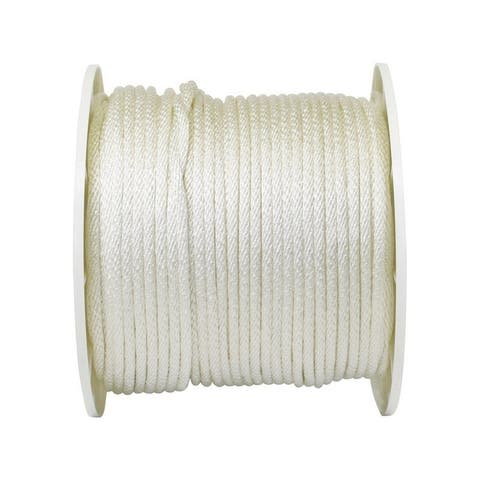 Wellington 5/16 in. Dia. x 500 ft. L Solid Braided Nylon Rope White