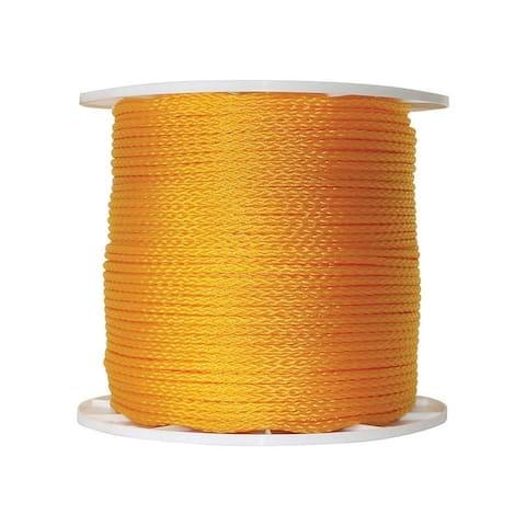 Wellington 1/4 in. Dia. x 1000 ft. L Diamond Braided Poly Rope Orange
