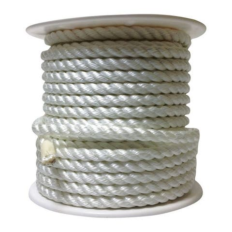 Wellington 5/8 in. Dia. x 150 ft. L Twisted Nylon Rope White