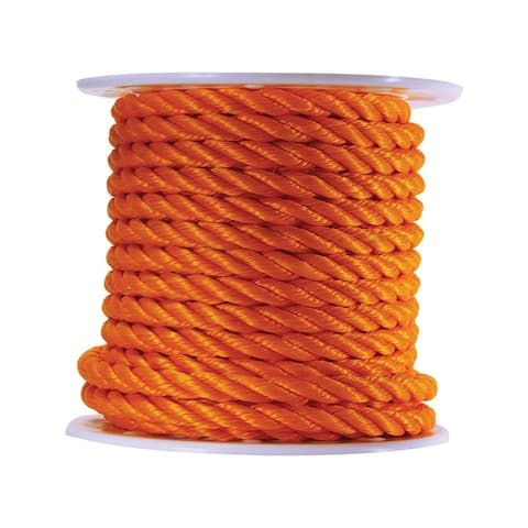 Wellington 3/4 in. Dia. x 100 ft. L Twisted Poly Rope Orange