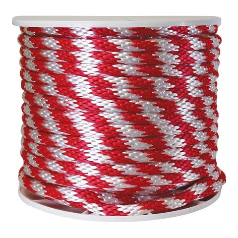 Wellington 5/8 in. Dia. x 200 ft. L Solid Braided Poly Derby Rope Red/White