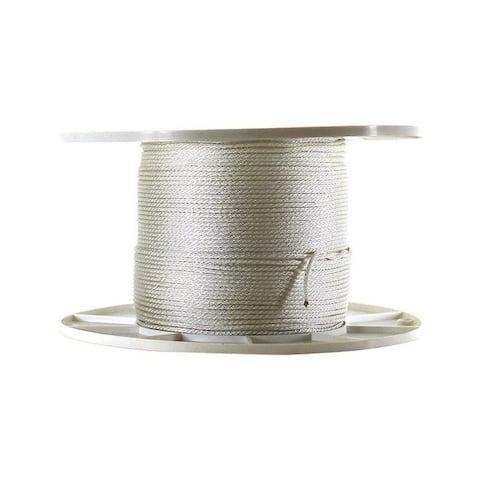 Wellington 1/8 in. Dia. x 1000 ft. L Solid Braided Nylon Cord White