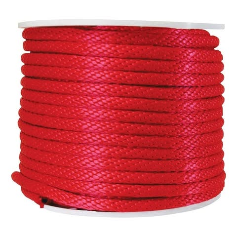 Wellington 5/8 in. Dia. x 200 ft. L Solid Braided Poly Derby Rope Red