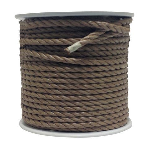 Wellington 1/2 in. Dia. x 300 ft. L Twisted Poly Rope Brown
