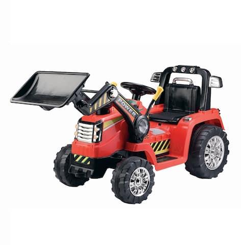 12V Battery Operated Push Dozer - Red