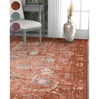 """Well Woven Modern Distressed Oriental Area Rug - 5'3"""" x 7'3"""""""