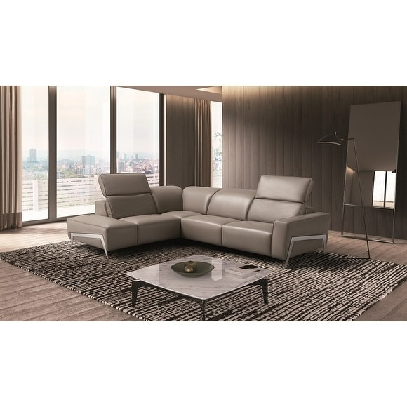 Ocean Italian Leather Sectional Sofa