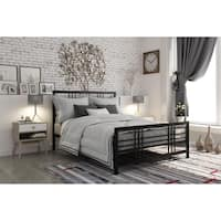 DHP Burbank Black Queen Metal Bed