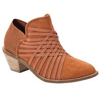 Zee Alexis Womens Molly Ankle Boots Chestnut