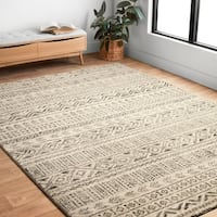 "Transitional Stone Grey Moroccan Geometric Rug - 9'2"" x 12'7"""