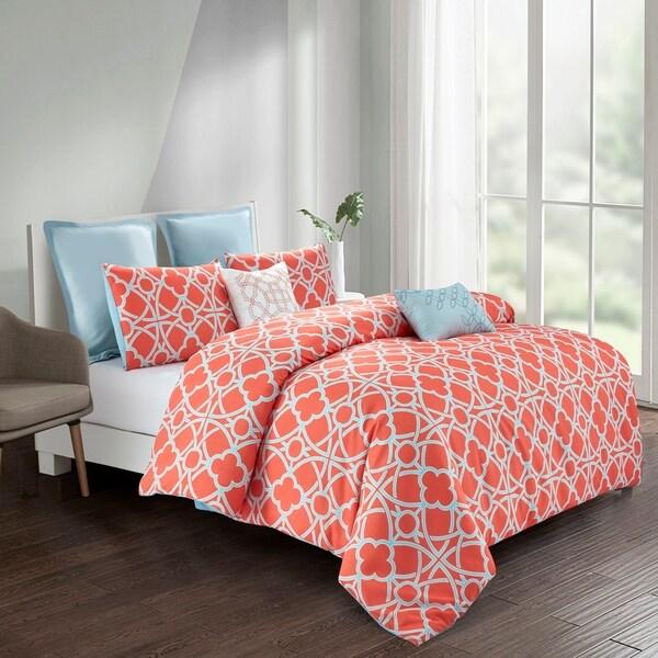 Avery Comforter Set in Orange