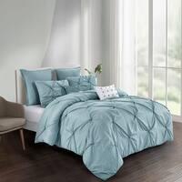 Harper Solid Comforter Set in Blue