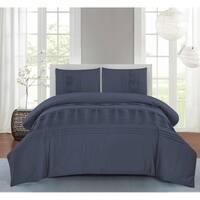 Wonder Home Sawyer 3PC Cotton Pleated Comforter Set,Queen,Ocean