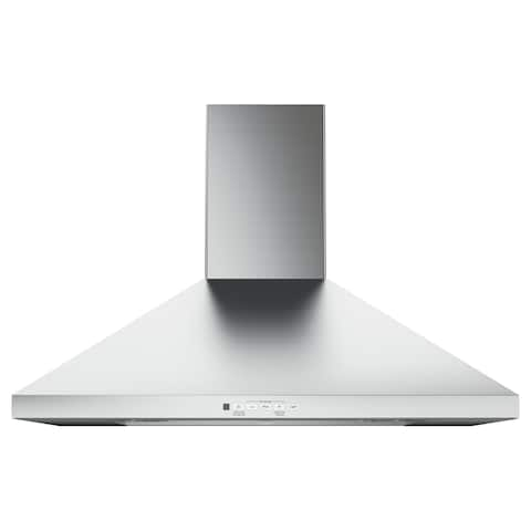 GE 30 IN Wall Mount Pyramid Chimney Hood in Stainless Steel