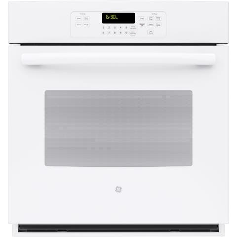 GE 27 Inch Built-In Single Wall Oven in White