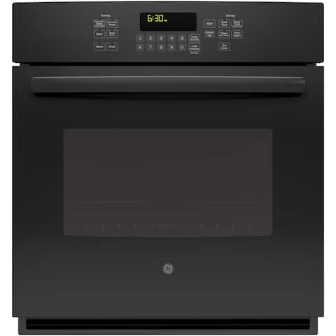 GE 27 Inch Built-In Single Convection Wall Oven in Black