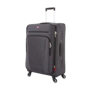 Swissgear Slate Cement 25.5 inch Lightweight Softside Spinner Suitcase