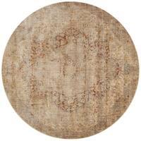 Hand Tufted Jaxx Round Wool Area Rug 9 9x 9 9 Free