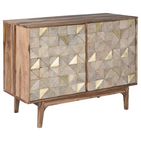 Carolmore Brown/Gold Contemporary Accent Cabinet