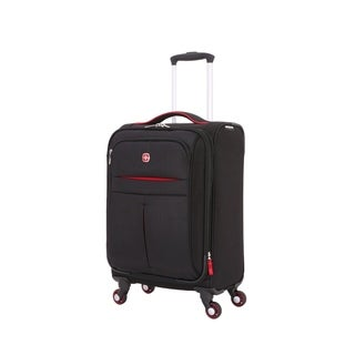 SwissGear Black/Red 19- inch Carry On Sofside Spinner Suitcase