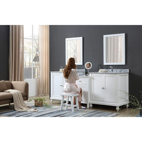 Classic Spa 83 In. Bath and Makeup Hybrid Vanity