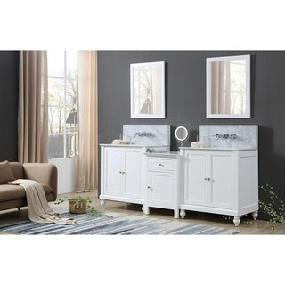 Classic Spa Premium 83 In. Bath and Makeup Hybrid Vanity in White