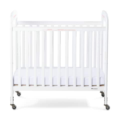 Next Gen Serenity Fixed-Side Compact Clearview Crib - White