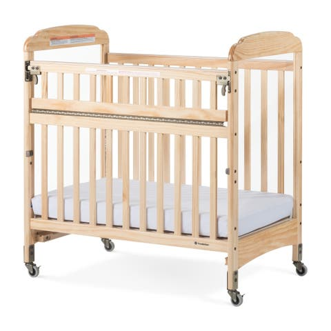 Next Gen Serenity SafeReach Compact Clearview Crib - Natural