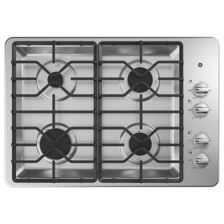 GE 30 IN Right Hand Control Gas Cooktop in Stainless Steel
