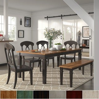 Elena Black Extendable Rectangular Dining Set - Napoleon Back by iNSPIRE Q Classic (More options available)