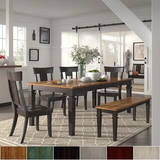 Elena Black Extendable Rectangular Dining Set - Panel Back by iNSPIRE Q Classic