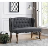 Cowles Linen Tufted Chesterfield Loveseat