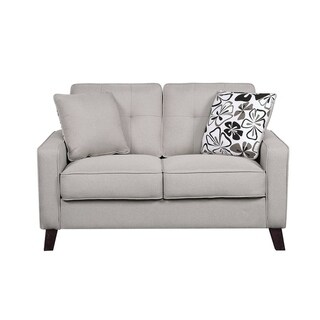 Lilliana Linen Tufted Loveseat