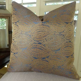 Thomas Collection Navy Gold High End Couch Pillow, Handmade in USA, 11100S