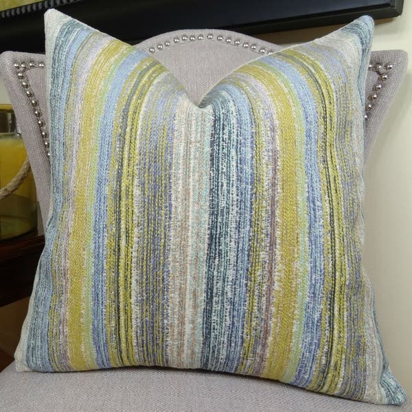 Thomas Collection Citrine Yellow Lavender Blue Cream Couch Throw Pillow Handmade In Usa 11160d Overstock 20895710