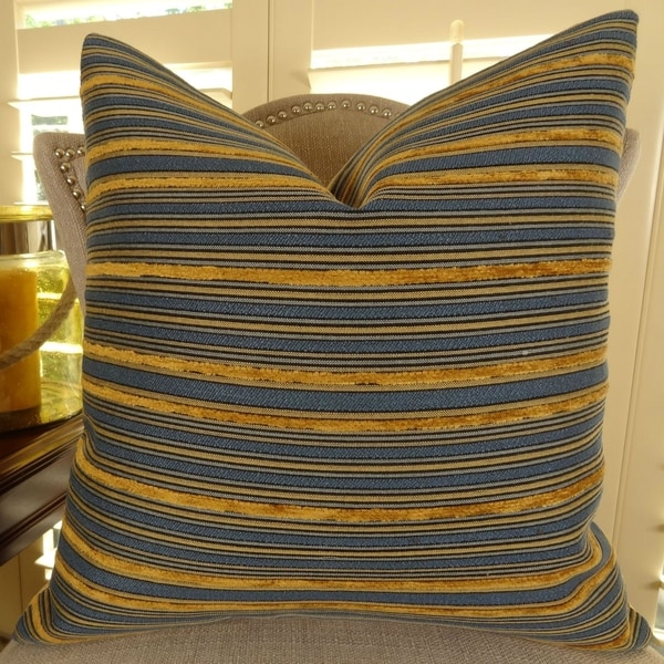Shop Thomas Collection Copper Dark Blue Striped Luxury