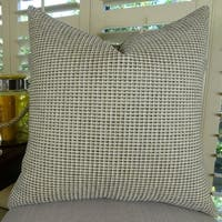 Thomas Collection Taupe Dark Gray Weaved Designer Throw Pillow, Handmade in USA, 11255D