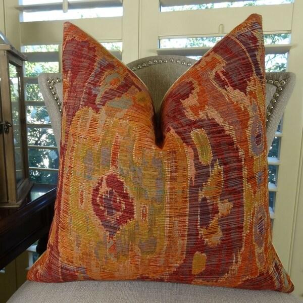 Coral Sofa Pillow: Shop Thomas Collection Magenta Coral IKAT Luxury Sofa