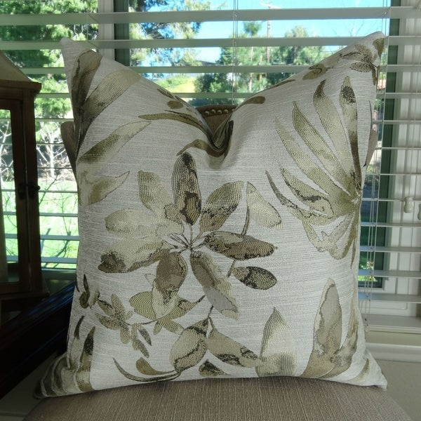Shop Thomas Collection Taupe Greige Floral Designer Luxury