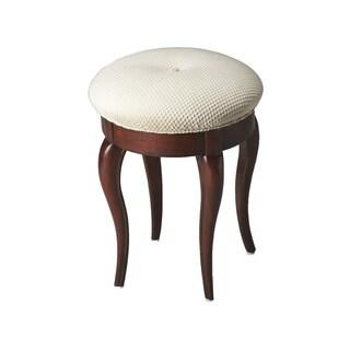Butler Traditional Round Vanity Stool - Dark Brown