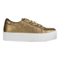 Women's Kenneth Cole New York Abbey Platform Sneaker Gold Leather