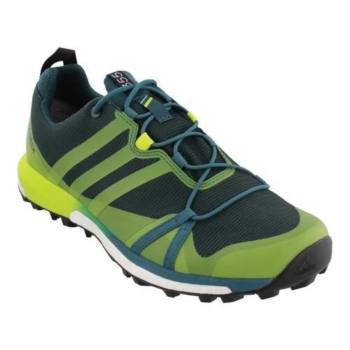 wholesale dealer 4cbf8 62dff Shop Men s adidas Terrex Agravic GORE-TEX Trail Running Shoe Mystery  Green Semi Solar Yellow Black - Free Shipping Today - Overstock - 18223341