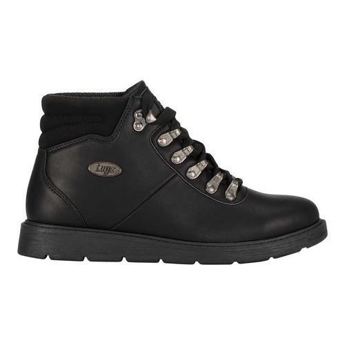 Lugz Theta Wedge Boot Black Perma Hide