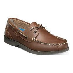 Men's Nunn Bush Bayside Lites Two Eye Boat Shoe Dark Brown Leather