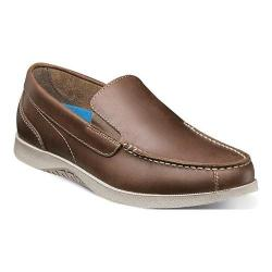 Men's Nunn Bush Bayside Lites Venetian Slip On Brown Leather