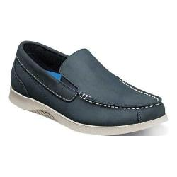 Men's Nunn Bush Bayside Lites Venetian Slip On Navy/Brown Leather
