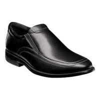 Men's Nunn Bush Dylan Moc Toe Slip On Black Leather