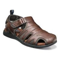 Men's Nunn Bush Rio Grande Closed Toe Fisherman Sandal Tan Faux Leather