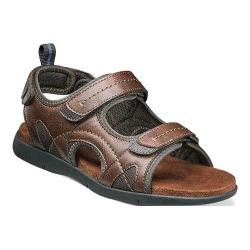 Men's Nunn Bush Rio Grande Three Strap River Sandal Tan Faux Leather