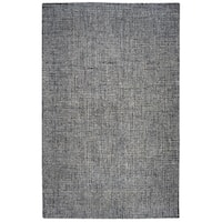Rizzy Home Brindleton Black/Ivory Wool Handmade Area - 9' x 12'